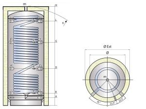 Vyrovnávací nádrž MX0W s ohřevem pitné vody