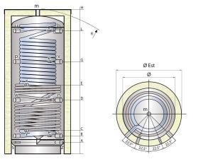 Vyrovnávací nádrž MX1W s ohřevem pitné vody a výměníkem