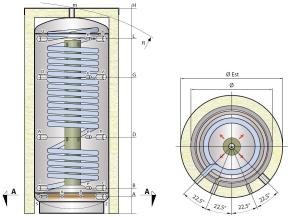 Solární stratifikační nádrž SM1X
